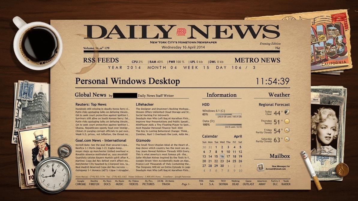 rainmeter skins for windows 8