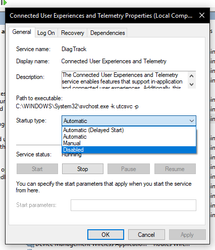 disable microsoft compatibility