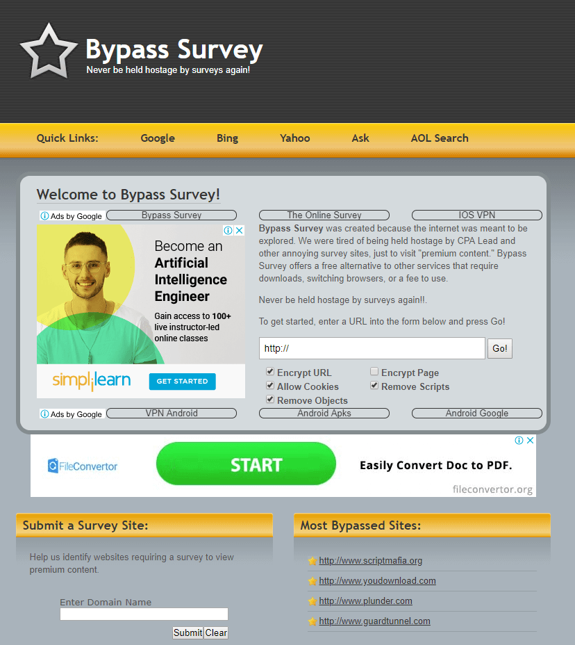 survey remover software