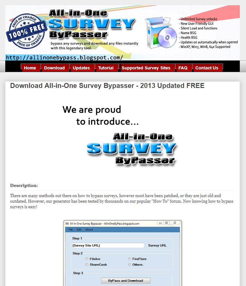 survey bypass software